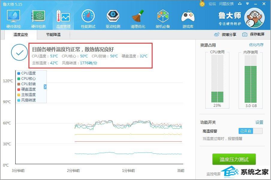 winxp系统怎么看cpu温度?winxp系统查看cpu温度的方法_新客网
